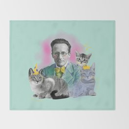 Schrödinger's Birthday Party Throw Blanket