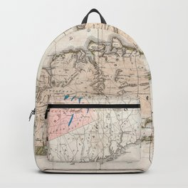 1842 Map of Long Island, New York Backpack