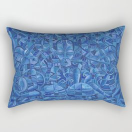 The Blues Band II Painting from Africa Rectangular Pillow