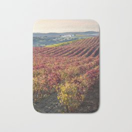 Autumn vineyards in Portugal, Reguengos de Monsaraz, the Alentejo Bath Mat
