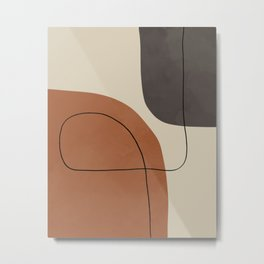 Modern Abstract Shapes #1 Metal Print