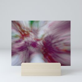 Tie-Dye (abstract created from blooming redbuds) Mini Art Print
