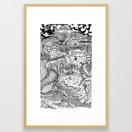 """Lordran by Memory"" - Dark Souls Framed Art Print"