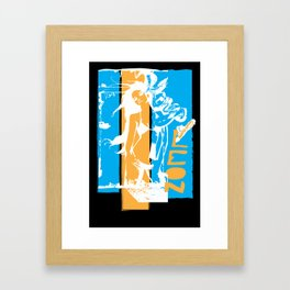 Taper Jean Girl Framed Art Print