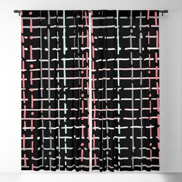 pastel doodle on black Blackout Curtain