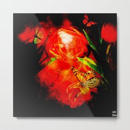 A simple look put on a flower and here is a day filled with happiness!! Metal Print