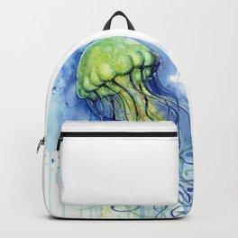Jellyfish Watercolor Beautiful Sea Creatures Backpack