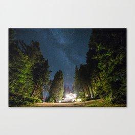 Lodge Under the Stars Canvas Print