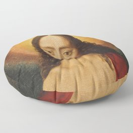 Head of Christ, Dirk Bouts, 15th Century Dutch Painting Floor Pillow