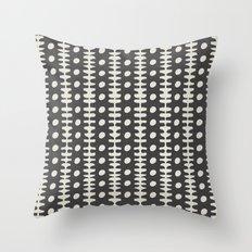 dot and stripe Throw Pillow