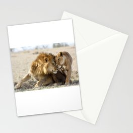 Lions in Love Stationery Cards