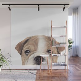 Bulldog Original painting Dog illustration original painting print Wall Mural