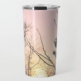 Sky colors and trees Travel Mug