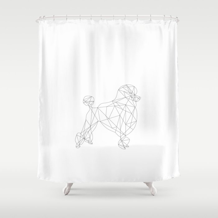 Poodle Shower Curtain By Studiocarolines