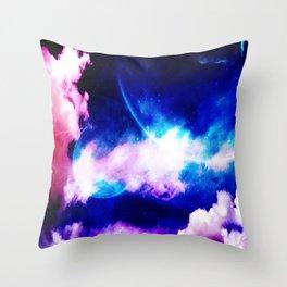 Dual Moons Throw Pillow