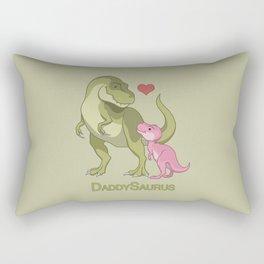 DaddySaurus T-Rex Father & Baby Girl Dinosaurs Rectangular Pillow
