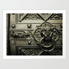 Lion Door Art Print