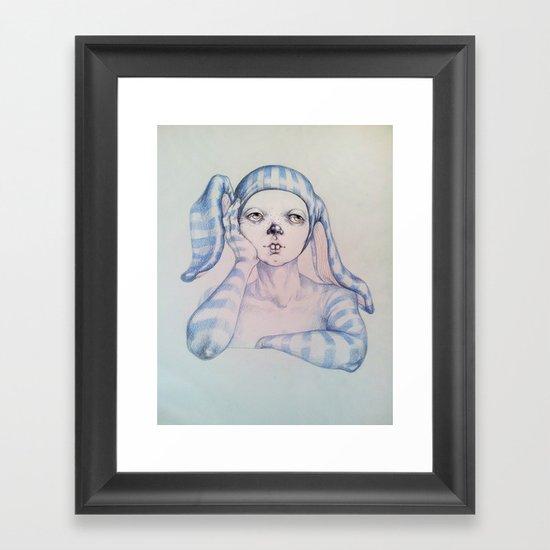 The one who waited Framed Art Print