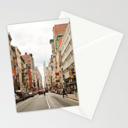 Shopping Day in Soho Stationery Cards