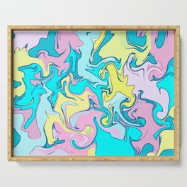 Pastel Abstract Serving Tray
