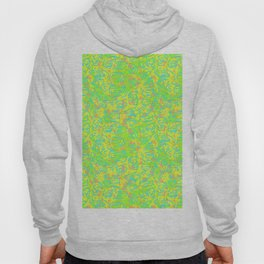 90's Neon Abstract Turtle Shells in Fluorescent Yellow Hoody