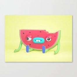 Watermelon dude Canvas Print