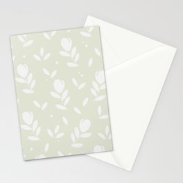 Let it bloom with tulips, floral pattern design Stationery Cards