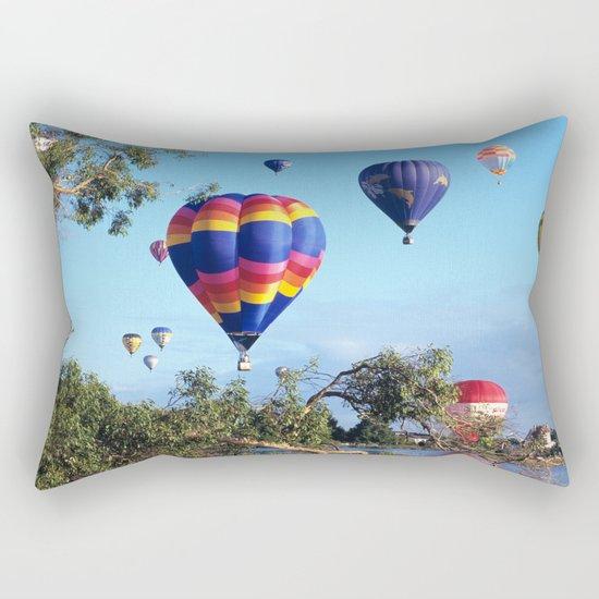 Hot air balloon scene Rectangular Pillow