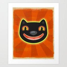 Happy Halloween Cat! Art Print