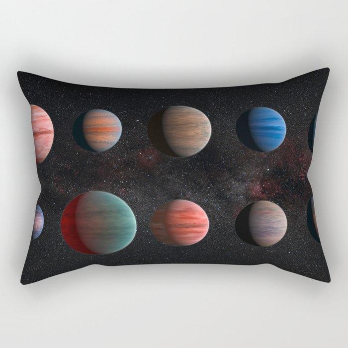 Space Art - Planets Rectangular Pillow