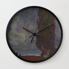 Approaching Thunderstorm (The Large Poplar II) Wall Clock