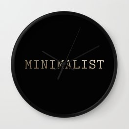 Black and Gold Minimalist Typewriter Wall Clock
