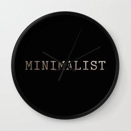 Black and Gold Minimalist Typewriter Wall Clock