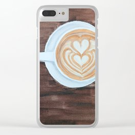 Whole Latte Love Clear iPhone Case