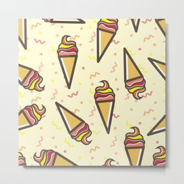 Pattern sweets Metal Print