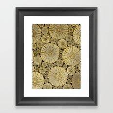 Abstract Floral Circles 6 Framed Art Print