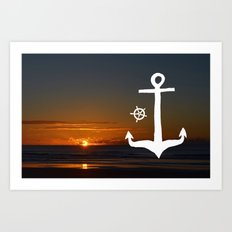 Anchors at Sea Art Print