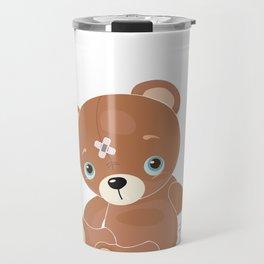 Get Well Soon Teddy Bear - Accident Injury Travel Mug