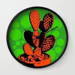 Cactus Art05_#4 Wall Clock