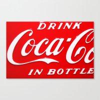 coca cola Canvas Prints featuring Coca-Cola by Kai Gee