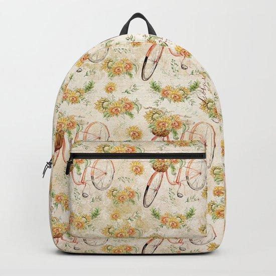 Vintage Sunflowers #11 Backpack