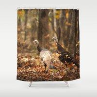 turkey Shower Curtains featuring Wild Turkey by Jai Johnson