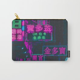 Hong Kong Neon Aesthetic Carry-All Pouch