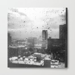 BLACK AND WHITE ATLANTA SKYLINE Metal Print