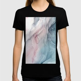 Calming Pastel Flow- Blush, grey and blue T-shirt