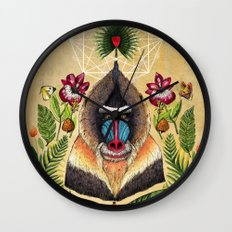 Majestic Mandrill Wall Clock