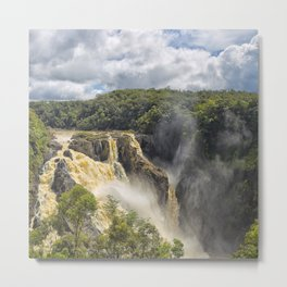 Beautiful wild waterfall Metal Print