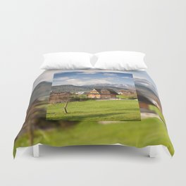 village in Tatra Country Duvet Cover