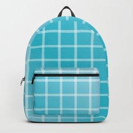 Ocean blue and white line art Backpack