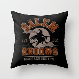 Salem Broooms Throw Pillow